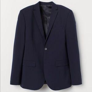 H&M Slim Fit Dark Blue Blazer - NWT